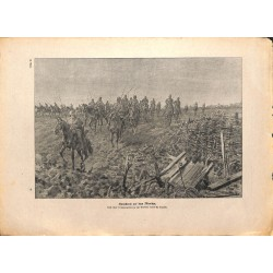 2123	 WWI print 1914/18-	German Cavalry  drawing by hans Schmidt	,size:	23,5 x 32,5 cm		,this print comes from the german book ""
