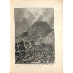 2128	 WWI print 1914/18-	Darialschlucht Kaukasus german soldiers	,size:	23,5 x 32,5 cm	, printed on normal paper-	,this print co