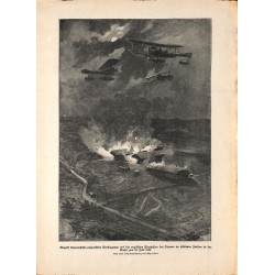 2133 WWI print 1914/18-German Artillery soliders field  canon drawing by Strasser,size:23,5 x 32,5 cm, printed on normal pa