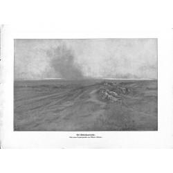 "2135 WWI print 1914/18-german soldiers sneek patrol,size:23,5 x 32,5 cm,this print comes from the german book ""Illustriert"