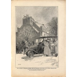 2141 WWI print 1914/18-Tilsit Tauroogen destroyed church,size:23,5 x 32,5 cm, printed on normal paper-,this print comes fr