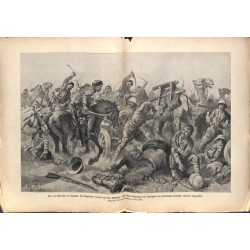 2145 WWI print 1914/18-Ktesiphon  English soliders attacked by Turks,size:23,5 x 32,5 cm, printed on normal paper-,this pr