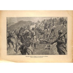 2146	 WWI print 1914/18-	Wardar bulgarian soldiers attack french soldiers	,size:	47 x 32,5 cm	, printed on normal paper-	,this p