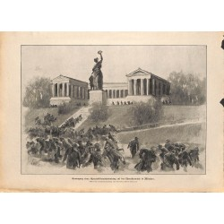 2147	 WWI print 1914/18-	Communists in Munich Theresienwiese	,size:	23,5 x 32,5 cm	, printed on normal paper-	,this print comes