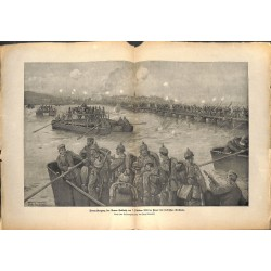 2149	 WWI print 1914/18-	Donau Armee Gallwitz October 1915  german soldiers	,size:	47 x 32,5 cm	, printed on normal paper-	,this