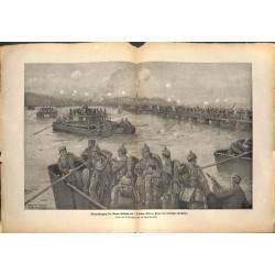 2149 WWI print 1914/18-Donau Armee Gallwitz October 1915  german soldiers,size:47 x 32,5 cm, printed on normal paper-,this
