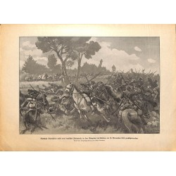 2151 WWI print 1914/18-Russian Cavalry Soldau 1914,size:47 x 32,5 cm, printed on normal paper-,this print comes from the g