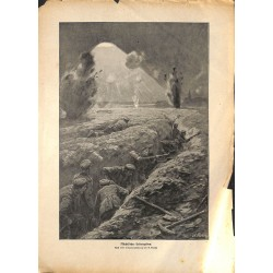2156	 WWI print 1914/18-	German soldiers battlefield artillery attack	,size:	23,5 x 32,5 cm	, printed on normal paper-	,this pri