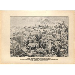 2172 WWI print 1914/18-Italian Austrian Hungarian soldiers trench,size:23,5 x 32,5 cm, printed on normal paper-,this print