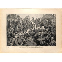 2174 WWI print 1914/18-russian Cavalry Tlumacz german soldiers July 1916,size:23,5 x 32,5 cm, printed on normal paper-,thi