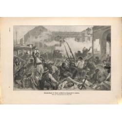 2177	 WWI print 1914/18-	Turin Italy stravation street fights riots	,size:	23,5 x 32,5 cm	, printed on normal paper-	,this print