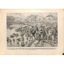 2178	 WWI print 1914/18-	russian tanks german soldiers Tarnopol 	,size:	23,5 x 32,5 cm	, printed on normal paper-	,this print co