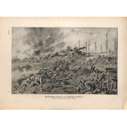 2179 WWI print 1914/18-Warneton wind mill artillery,size:23,5 x 32,5 cm, printed on normal paper-,this print comes from th