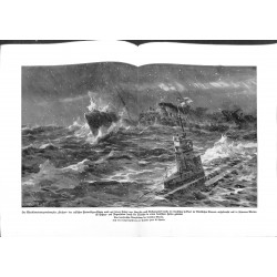 2183 WWI print 1914/18-Steamer SUCHAN  german submarine U-Boot ,size:47 x 32,5 cm, printed on normal paper-,this print com
