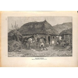 2184 WWI print 1914/18-romanian guerillas Freischärler,size:23,5 x 32,5 cm, printed on normal paper-,this print comes from