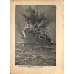 2191 WWI print 1914/18-russian Cruiser Pallada german U-Boot U 26 ,size:23,5 x 32,5 cm, printed on normal paper-,this prin