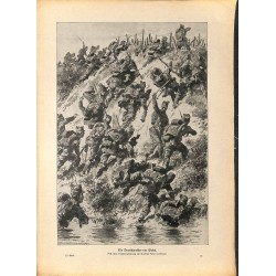 2195 WWI print 1914/18-Deutschmeister Sokal storm,size:47 x 32,5 cm, printed on normal paper-,this print comes from the ge