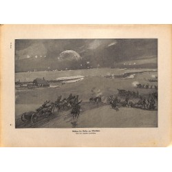 2199 WWI print 1914/18-Warzaw russian retreat,size:23,5 x 32,5 cm, printed on normal paper-,this print comes from the germ