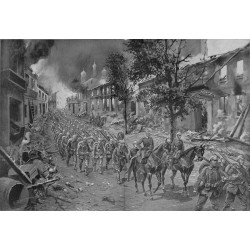 2201 WWI print 1914/18-Brest-Litowsk german soldiers,size:23,5 x 32,5 cm, printed on normal paper-,this print comes from t