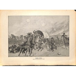 2204 WWI print 1914/18-Russian retreat horses soldiers Russia,size:23,5 x 32,5 cm, printed on normal paper-,this print com