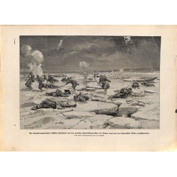 2206	 WWI print 1914/18-	Sankt-Georg-Arm  Donau russian soldiers battlefield	,size:	23,5 x 32,5 cm	, printed on normal paper-	,t