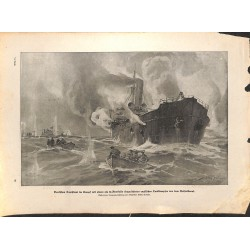 2209	 WWI print 1914/18-	English Tank Steamer German U-Bot submarine	,size:	23,5 x 32,5 cm	, printed on normal paper-	,this prin