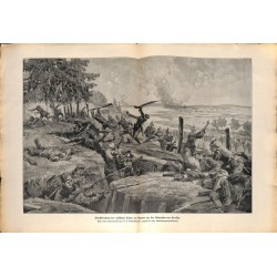 2220 WWI print 1914/18-Narev russian trnech german soldiers attack,size:23,5 x 32,5 cm, printed on normal paper-,this prin
