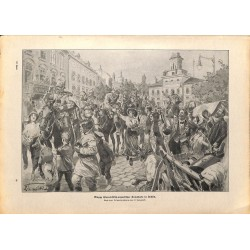2223	 WWI print 1914/18-	Lublin austro-hungarian troops cavalry	,size:	23,5 x 32,5 cm	, printed on normal paper-	,this print com