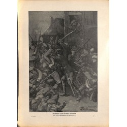 2224	 WWI print 1914/18-	austro-hungarian soldiers night attack fights	,size:	23,5 x 32,5 cm		,this print comes from the german