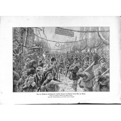 2226	 WWI print 1914/18-	German troops back home Cologne Rhein	,size:	47 x 32,5 cm	, printed on normal paper-	,this print comes