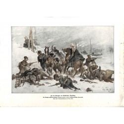 2249	 WWI print 1914/18-	Kaukasus russian soliers turkish-persian ambush	,size:	23,5 x 32,5 cm		,this print comes from the germa