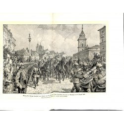 """2253 WWI print 1914/18-German soldiers Warzaw Poland 1915,size:23,5 x 32,5 cm,this print comes from the german book """"Illus"""