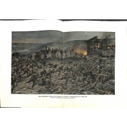 2255	 WWI print 1914/18-	Cumieres May 1916 German soldiers attack french positions	,size:	23,5 x 32,5 cm	, printed on normal pap