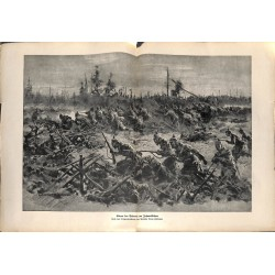 2257	 WWI print 1914/18-	Jahndwäldchen german soldiers storm	,size:	23,5 x 32,5 cm	, printed on normal paper-	,this print comes