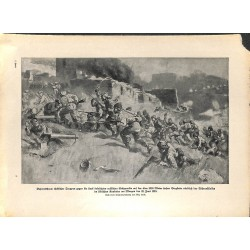 2258 WWI print 1914/18-Turks attack russian position Tschorok river June 1916,size:23,5 x 32,5 cm,this print comes from th