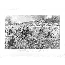 """2260 WWI print 1914/18-Leonowka german soldiers attack trench,size:23,5 x 32,5 cm,this print comes from the german book """"I"""