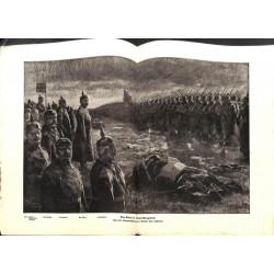 2262 WWI print 1914/18-Kaiser Wilhelm II Nowo-Georgiewsk Falkenheyn Hindenburg,size:47 x 32,5 cm,this print comes from the