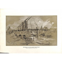 """2265 WWI print 1914/18-Warneton Lys german soldiers,size:23,5 x 32,5 cm,this print comes from the german book """"Illustriert"""