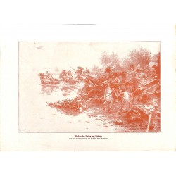 """2266 WWI print 1914/18-Livland Russian Cavalry,size:23,5 x 32,5 cm,this print comes from the german book """"Illustrierte Ges"""