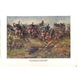 2270	 WWI print 1914/18-	Hungarian Honved attack russian soldiers	,size:	23,5 x 32,5 cm		,this print comes from the german book