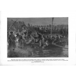 2273 WWI print 1914/18-Bulgarian soldiers Tutrakan Cernavoda Donau,size:23,5 x 32,5 cm,this print comes from the german bo