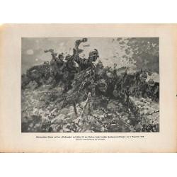 2274 WWI print 1914/18-Verdun Backenzahn german soldiers hand grenades Height 304 Dezember 1916,size:23,5 x 32,5 cm, printe