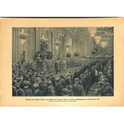 2276 WWI print 1914/18-Spetember 1918 Wilhelm II. speech Krupp company,size:23,5 x 32,5 cm,this print comes from the germa
