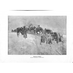 "2279	 WWI print 1914/18-	German soldiers artillery horses	,size:	23,5 x 32,5 cm		,this print comes from the german book ""Illustr"