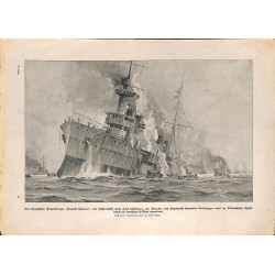 2283 WWI print 1914/18-Frenc Tank Cruiser Dupetit Thouars,size:23,5 x 32,5 cm, printed on normal paper-,this print comes f