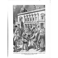2286 WWI print 1914/18-Konak  Serbia October 1915 Belgrad german and austro-hungarian soldiers,size:23,5 x 32,5 cm,this pr