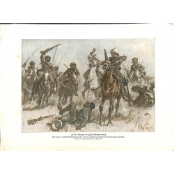 2290	 WWI print 1914/18-	Iraq English Cavalry Arabs english soldiers	,size:	23,5 x 32,5 cm		,this print comes from the german bo