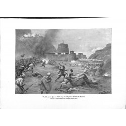 """2295 WWI print 1914/18-Jemen English defeat Scheich Osmani ,size:23,5 x 32,5 cm,this print comes from the german book """"Ill"""