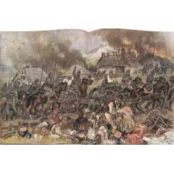 """2296 WWI print 1914/18-Walachei  romanian soldiers  village,size:47 x 32,5 cm,this print comes from the german book """"Illus"""