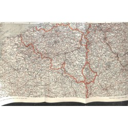 2297 WWI print 1914/18-map 1914715 Western Front Belgium Luxembourg France Somme,size:54 x 32,5 cm,this print comes from t